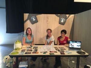 Sarah, Melany et Séverine au forum des association de Baugé en Anjou 2018